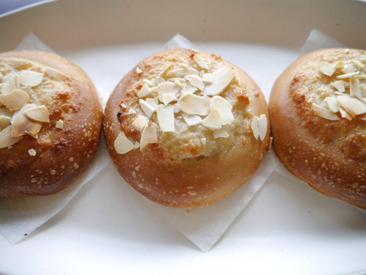 卵・ミルクを使わないアーモンドクリームパン。